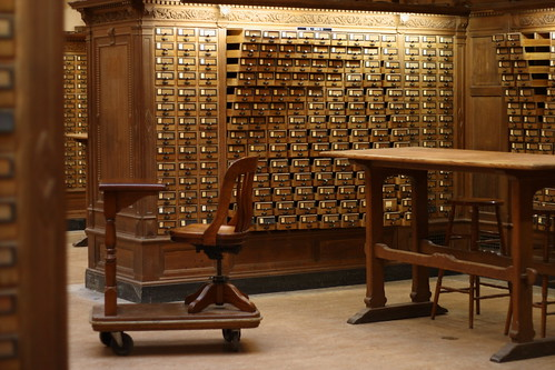 Card catalog sculpture