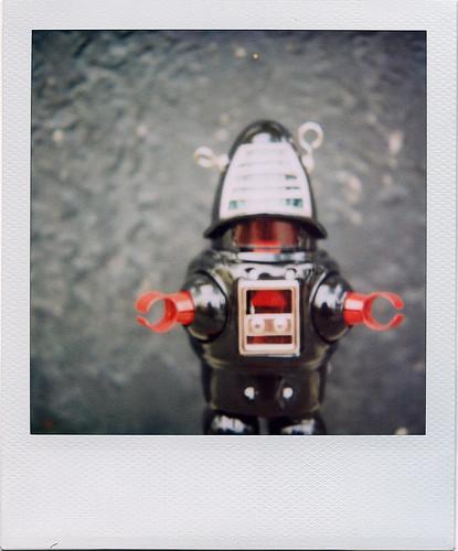 black robot.