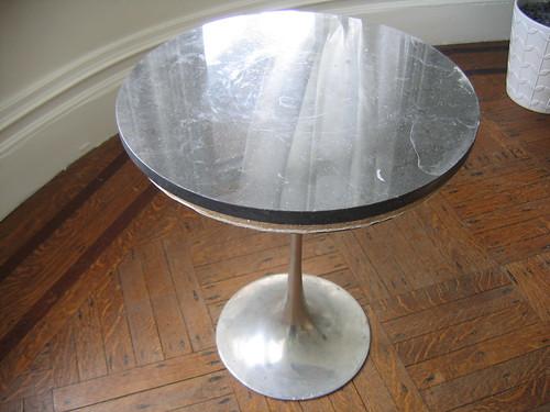 Scavenged faux-Saarinen table. : Door Sixteen