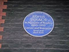 Photo of Rufus Isaacs blue plaque
