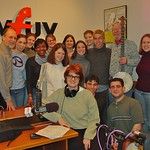Pete Seeger with WFUV staff