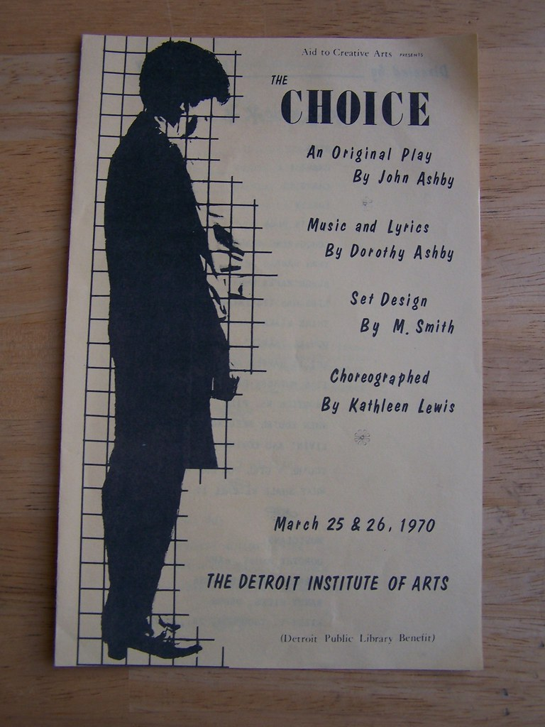 2233) Dorothy Ashby - 1970 Theater Program for the African
