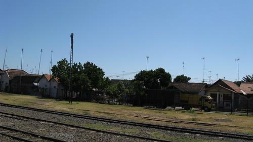 blue sky house landscape track rail kampong antenna pasuruan
