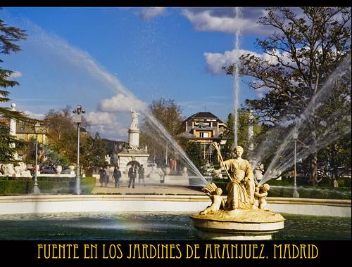 El tiempo por si mismo fuentes en los jardines de aranjuez for Los jardines de aranjuez
