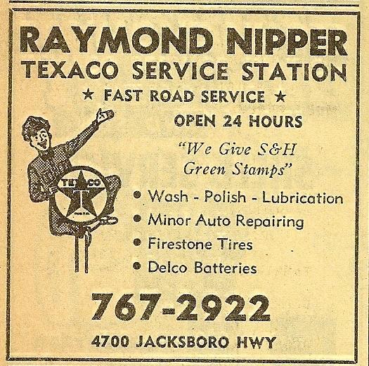 Raymond Nipper Texaco Service Station - 4700 (Old) Jacksboro Highway, Wichita Falls, Texas U.S.A. - 1968