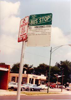 1960's era CTA bus stop sign. Chicago Illinois. August 1990. by Eddie from Chicago