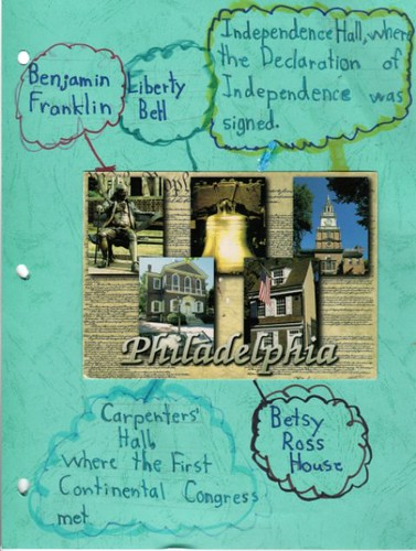 Philadelphia notebooking page