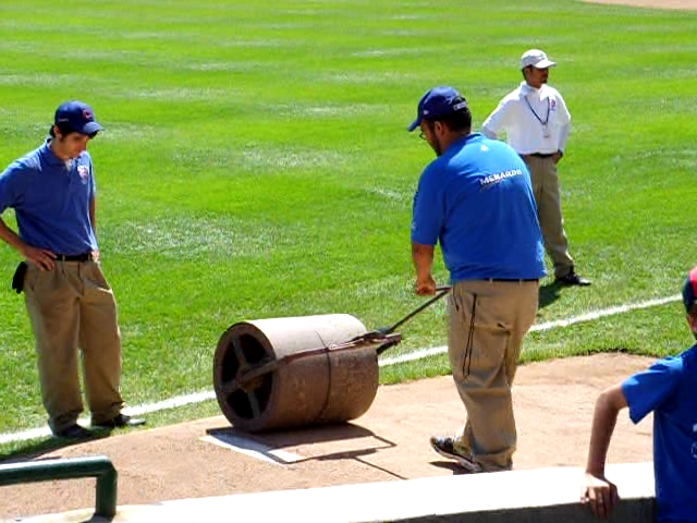 Mound roller at Wrigley Field