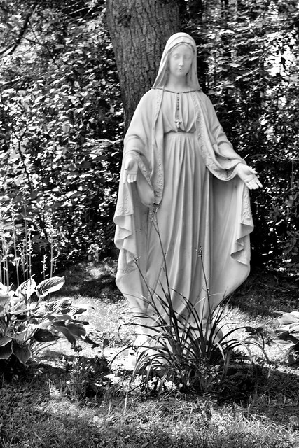 Virgin Mary Black and White | Flickr - Photo Sharing!