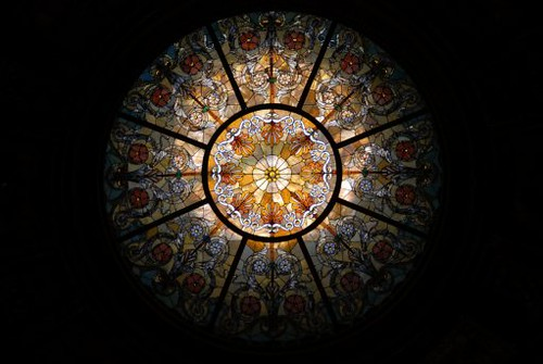 (dome 1) Stained Glass Dome by Healy & Millet Co., GAR Rotunda, Chicago Cultural Center, Chicago, 2008