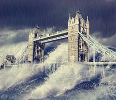 [フリー画像素材] グラフィック, フォトレタッチ, 橋, 洪水, タワーブリッジ ID:201201311600