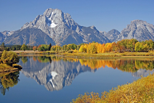 Oxbow Bend in fall colors