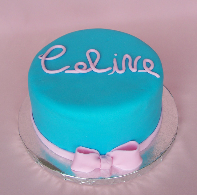 Pink and blue birthday cake  Flickr - Photo Sharing!