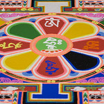 Close up of the sand mandala