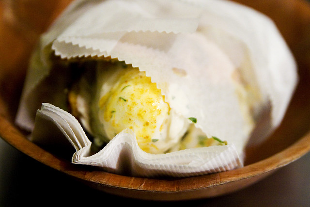 Sabich pita sandwich from Taim | slices of eggplant, fried ...