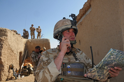 Military serving in Afghanistan