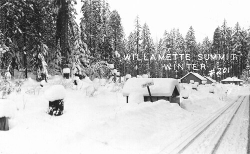 Willamette Pass summit in winter
