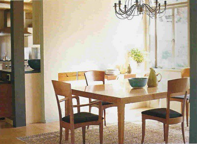 Simple beautiful dining room modern scandanavian for Simple dining room