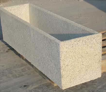 Jardinera rectangular de hormigon flickr photo sharing for Jardineras con bloques de hormigon