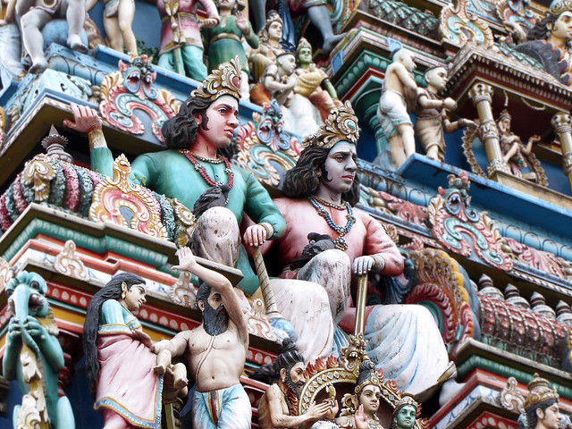 Statues on