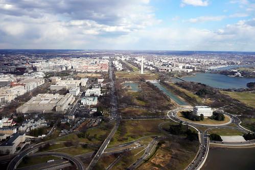 Washington DC National Mall from 1,000 feet