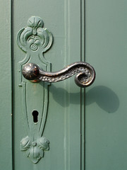 metal, door handle, iron,