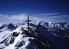 The summit of the Dom (4545m), Valais, Switzerland.  31/08/98