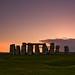 Sunset Stonehenge by René Ehrhardt