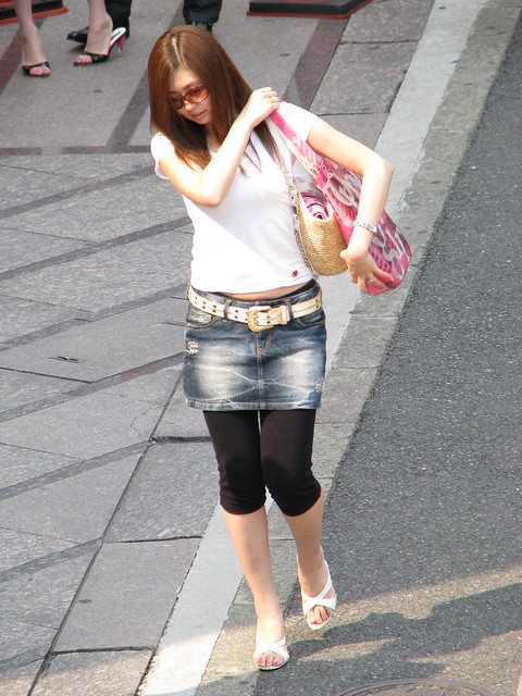 black tights knee length denim skirt jun 2008 img 0677