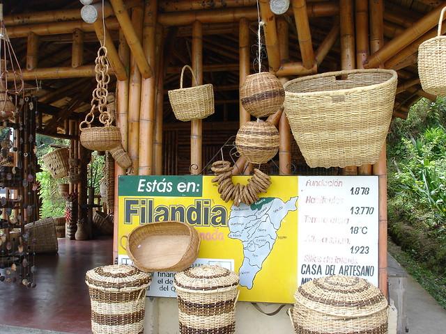 Imagen de canastos artesanales de Filandia, Quindio