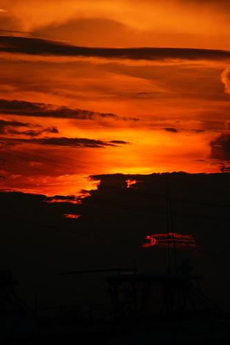 sunset sun beach water northcarolina eveningsky topsailisland surfcity