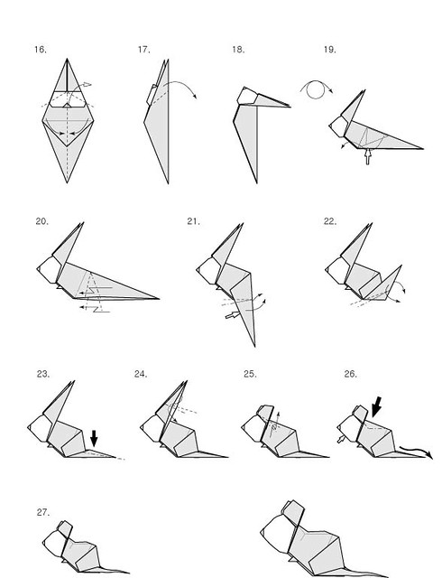 Origami Moose Diagram http://www.flickr.com/photos/origamist/2751448087/