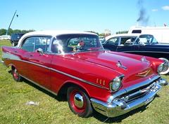Red 1957 Chevrolet Bel Air