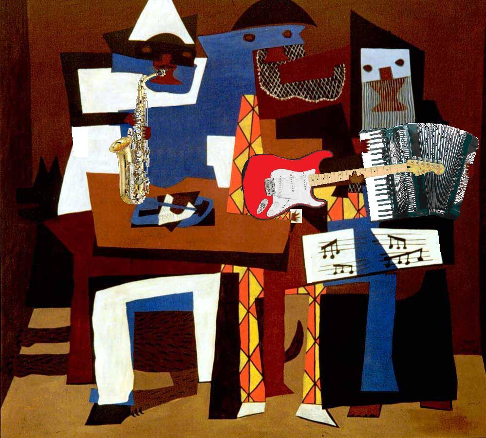 Resultado de imagen de cubismo los musicos