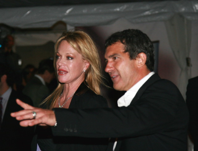 Melanie Griffifth and Antonio Banderas