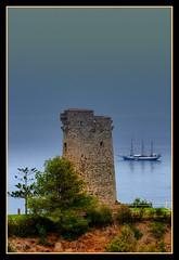Atalaya en Cerro Gordo con el velero