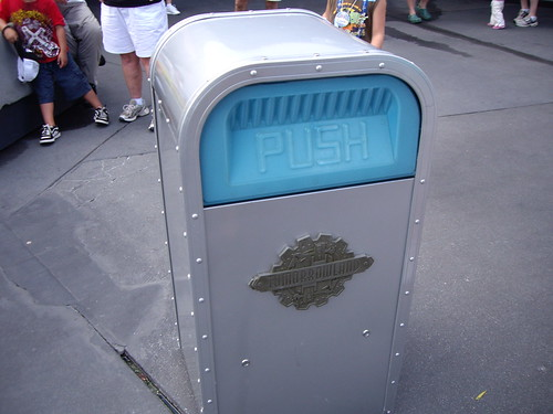 Push, the walking, talking trash can!