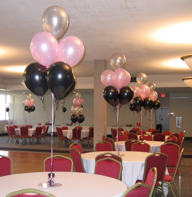 Table balloon trees flickr photo sharing for R b party decorations