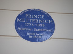 Photo of Klemens von Metternich blue plaque