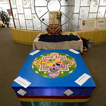 Sand mandala and Buddhist shrine display: Day 2