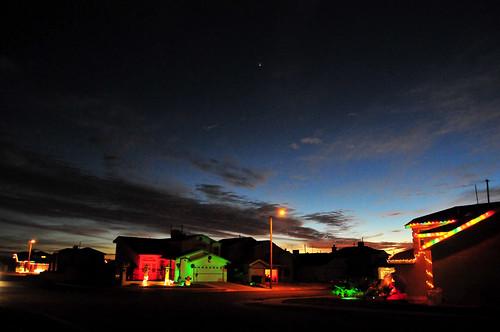 christmas sunset venus elpaso paulgarland