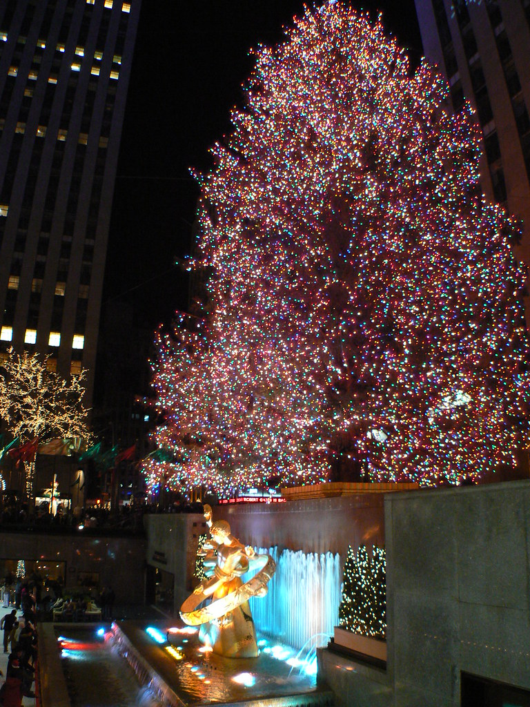 árvores de natal do Rockefeller Center Nova York