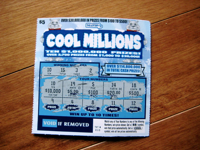 12/28/08 Winning $10,000 Scratch Ticket