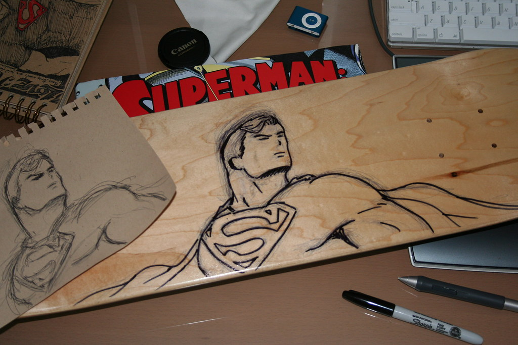 Custom Superman Skateboard Deck