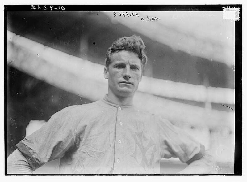 [Claud Derrick, New York AL, at Polo Grounds, NY (baseball)]  (LOC)