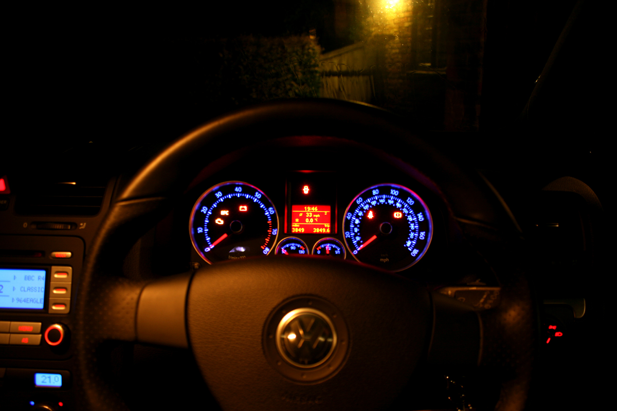 Vw Gti Dash At Night A Photo On Flickriver