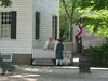 ColonialWilliamsburg- CostumedGentlemen Talking