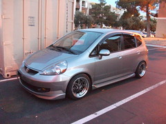 automobile, automotive exterior, wheel, vehicle, subcompact car, honda, compact car, bumper, honda fit, land vehicle,