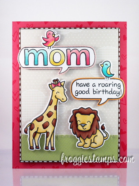 Copic Mom Roaring Birthday 1