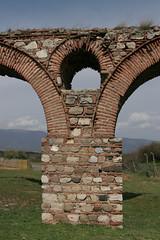 Aquaduct detail in Skopje, Macedonia